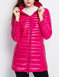 Women's Regular Padded Coat,Street chic Going out Solid-Others Polypropylene Sleeveless