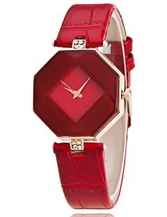 Dame Selskapsklokke Moteklokke Armbåndsur Unike kreative Watch Hverdagsklokke Kinesisk Quartz PU Band Vedhend Armband Fritid Elegante