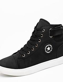 hesapli -Erkek Ayakkabı PU Bahar Sonbahar Hafif Tabanlar Rahat Spor Ayakkabısı Yürüyüş Günlük Dış mekan için Toka Beyaz Siyah Mavi Haki