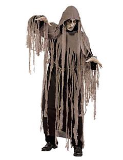 billige Halloween- og karnevalkostymer-Grim Reaper Cosplay Kostumer Herre Dame Halloween Karneval De dødes dag Festival / høytid Elastan Tactel Drakter Brun Vintage