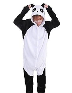 billige Kigurumi-Kigurumi-pysjamas Panda Onesie-pysjamas Kostume Flannelstoff Svart/Hvit Cosplay Til Pysjamas med dyremotiv Tegnefilm Halloween Festival /
