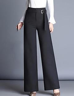 Dámské Šik ven Není elastické Široké nohavice Kalhoty Rovné Široké nohavice High Rise Jednobarevné