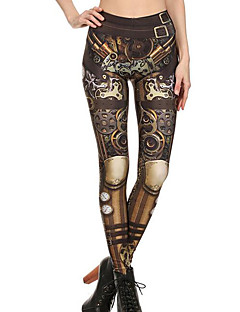Dames Print  n.v.t. Medium Print Legging,Bruin