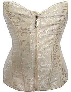 Women's Overbust Corset Nightwear,Sexy Push-Up Solid-Thick Polyester