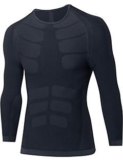 billige Løbetøj-Herre Grundlag T-Shirt / Sweatshirt / Kompressionstøj - Sport Træning & Fitness, Fritidssport, Basketbold Langærmet Letvægt, Åndbarhed,