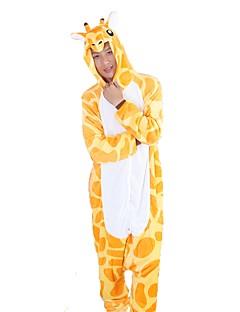Kigurumi Pyjamas Sjiraff Kostume Gul Flannelstoff Cosplay Kostumer Kigurumi Trikot / Heldraktskostymer Cosplay Festival / høytid Pysjamas