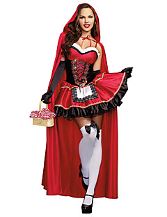 Princess Fairytale Cosplay Cosplay Costumes Masquerade Female Halloween Carnival Festival / Holiday Halloween Costumes Red Others Vintage
