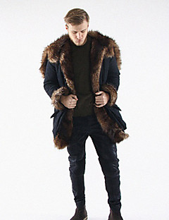 Men's Casual/Daily Work Casual Winter Fur Coat