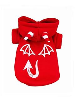 billiga Hundkläder-Hund Huvtröjor Hundkläder Vampyr Svart / Röd Cotton Kostym För husdjur Ledigt / vardag