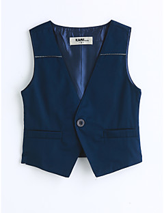 Boys' Solid Vest,Cotton Spring Fall Sleeveless Blue