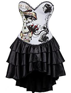 """tanie Gorsety-damskie sukienki z gorsetem typu """"hak i oko"""" - solidne, drukowane"""
