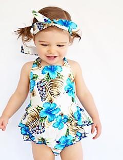 economico Tutine e pagliaccetti-Bambino Da ragazza Florale Con stampe Senza maniche Cotone Body Azzurro / Bambino (1-4 anni)