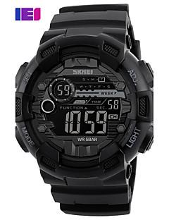billige Digitalure-Herre Quartz Digital Digital Watch Armbåndsur Smartur Militærur Skeletur Sportsur Kinesisk Alarm Kalender Kronograf Vandafvisende Stor