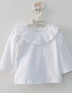 Baby T-skjorte Helfarve Blonder-100% Cotton-Vår/Vinter-