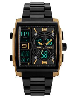 billige Digitalure-SKMEI Herre Digital Digital Watch Armbåndsur Sportsur Japansk Alarm Kalender Kronograf Vandafvisende LED Selvlysende i mørke Stopur Tre