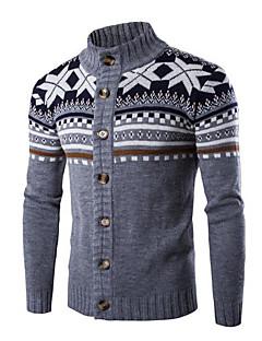 baratos Suéteres & Cardigans Masculinos-Homens Carregam - Sólido, Estampado