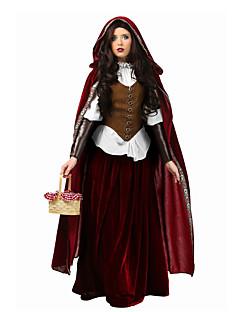 Koningin Sprookje Cosplay Cosplay Kostuums Gemaskerd Bal Vrouwelijk Halloween Carnaval Festival / Feestdagen Halloweenkostuums Rood