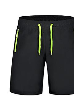 billige Herrebukser og -shorts-Herre Fritid Aktiv Uelastisk Løstsittende Joggebukser Shorts Bukser, Mellomhøyt liv Polyester Ensfarget Sommer