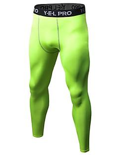 billiga Träning-, jogging- och yogakläder-Herr Tights för jogging / Gymleggings - Röd, Blå, Frukt grön sporter Cykling Tights Fitness, Gym, Träna Sportkläder Lättvikt, Andningsfunktion, Fitness, Löpning & Yoga Elastisk / Anatomisk design