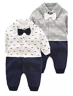 cheap Babies' Clothing-Baby Boys' Solid Colored Floral / Botanical Fashion One-Pieces