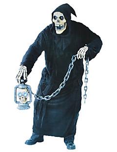 billige Halloween- og karnevalkostymer-Grim Reaper Cosplay Kostumer Herre Dame Halloween Karneval De dødes dag Festival / høytid Elastan Tactel Drakter Svart Vintage