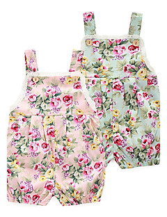 cheap The Freshest One-Piece-Baby Girls' Floral Floral / Fashion Print Sleeveless 100% Cotton Romper Pink / Toddler