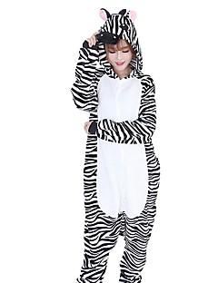 Kigurumi Pyjamas Sebra Kostume Svart hvit Flannelstoff Cosplay Kostumer Kigurumi Trikot / Heldraktskostymer Cosplay Festival / høytid
