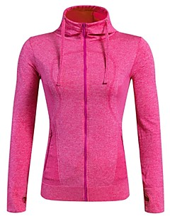 Women's Running Jacket Long Sleeves Quick Dry Breathable Stretchy Jacket Hoodie Top for Running/Jogging Camping / Hiking Cycling Exercise