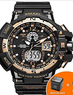 Herrn Kinder Sportuhr Militäruhr Armbanduhren für den Alltag Digitaluhr Japanisch Quartz Kalender Wasserdicht LED leuchtend Nachts