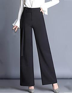 Χαμηλού Κόστους Γυναικεία Παντελόνια & Φούστες-Γυναικεία Κομψό στυλ street Μεγάλα Μεγέθη Ψηλοκάβαλο Πλατύ Πόδι / Δουλειά Παντελόνι Μονόχρωμο
