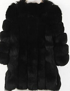 cheap Featured by Bloggers-Women's Long Plus Size Fur Coat - Solid Colored