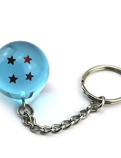 cheap Anime Cosplay Accessories-Inspired by Dragon Ball Son Goku Anime Cosplay  1 Stars Crystal Blue Ball Key Ring of  Dragon Ball Z Balls Key Buck 11CM