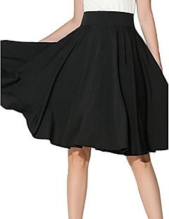 Damen Lässig/Alltäglich Midi Röcke Schaukel einfarbig Sommer