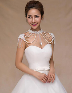 cheap Wedding Wraps-Pearl Wedding Party / Evening Women's Wrap With Pearl Capelets
