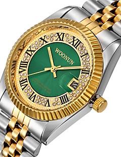 Heren Dames Modieus horloge Gesimuleerd Diamant Horloge Pavé horloge Japans Kwarts Kalender Waterbestendig Punk Grote wijzerplaat