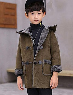 Boys' Solid Suit & Blazer,PU Cotton Winter Fall Long Sleeve Green Black