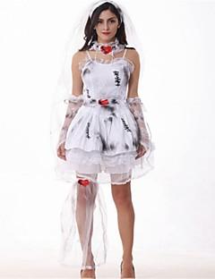 Batter Skjelett/Kranium Engel & Demon Zombie Brud Cosplay Kostumer Halloween De dødes dag Festival/høytid Halloween-kostymer Hvit Mote