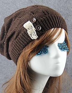 Χαμηλού Κόστους Fashionably Warm-Γυναικεία Ουράνιο Τόξο Καπέλο Αγνό Χρώμα - Καπελίνα