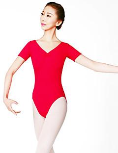 Balet Dámské Taneční vystoupení Nylon Jeden díl Krátké rukávy Přírodní Leotard