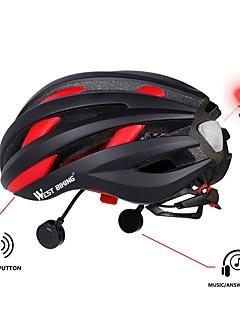 billiga Cykling-WEST BIKING® cykelhjälm / BMX Hjälm / Hjälm 16 Ventiler CE Certifiering Bluetooth, Multifunktion, Ljus EPS, PC Cykling / Cykel / Cykel