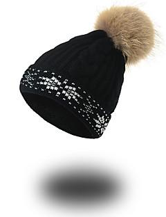 Unisex Autunno Inverno Acrilico Cappelli Motivo Casual Moderno Tenere al caldo Maglia Toque floscio A falda larga,Solidi Tinta unita Di