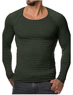 tanie Męskie swetry i swetry rozpinane-Męskie Rozmiar plus Sport Okrągły dekolt Pulower Jendolity kolor