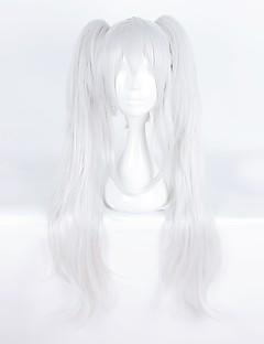 billiga Anime/Cosplay-peruker-Cosplay Peruker Cosplay Cosplay Silver Animé Cosplay-peruker 28 tum Värmebeständigt Fiber Herr Dam halloween Peruker
