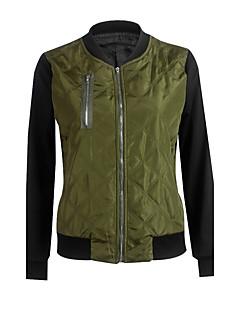 レディース ワーク プラスサイズ 秋 冬 ジャケット,ヴィンテージ ストリートファッション スタンド カラーブロック レギュラー コットン アクリル 長袖