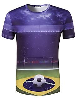 בגדי ריקוד גברים כדורגל צמרות נוח קיץ דפוס פוליאסטר כדורגל חוץ
