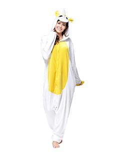 billige Kigurumi-Kigurumi-pysjamas Enhjørning Onesie-pysjamas Kostume Flanell Fleece Hvit Grønn Gul Cosplay Til Voksne Pysjamas med dyremotiv Tegnefilm