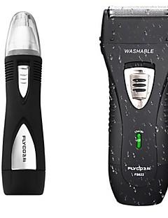 billige Barbermaskiner & Barberhøvler-flyco fs622 elektrisk barbermaskin razor nese enhet vaskbar ladning indikator