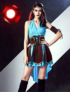 cheap Men's & Women's Halloween Costumes-Pirate Cosplay Costume Adults' Halloween Festival / Holiday Halloween Costumes Fashion Vintage