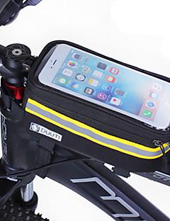 Brašna na rám Mobilní telefon Bag 4.8-5.7 palec Reflexní pásek Větruvzdorné Prodyšnost Dotyková obrazovka Cyklistika pro Samsung Galaxy