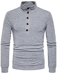 Herren Standard Pullover-Lässig/Alltäglich Solide V-Ausschnitt Langarm Baumwolle Herbst Winter Mittel Mikro-elastisch